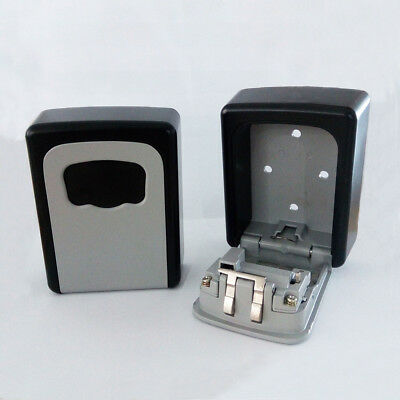 Advanced 4 Digit Combination Key USB Drives Room Card Lock Box Wall Mount Holder