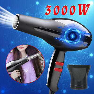 3000W Professional Salon Electric Hair Dryer Blow Hot & Cold Large Power 220V
