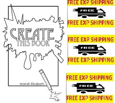 Create This Book by Moriah Elizabeth 0692452745 Creativity 2015 Paperback NEW