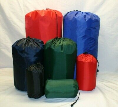 Waterproof nylon stuff bag sac sack. Made in Britain.