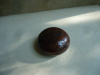Antique Brown Porcelain Door Knob 2 1/4""