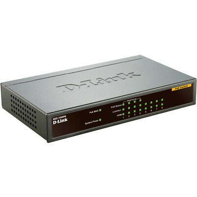 D-Link 8-Port 10/100Mbps Ethernet Switch With 4 Poe Ports Metal Housing New