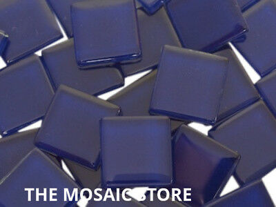 Dark Blue Crystal Glass Mosaic Tiles 2cm - Art Craft Supplies