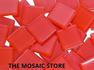 Red Crystal Glass Mosaic Tiles 2cm - Art Craft Supplies