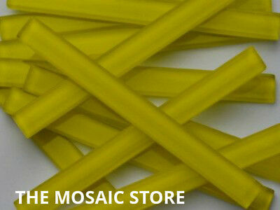 Yellow Crystal Glass Mosaic Tile Strips - Art & Craft Supplies