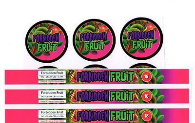 FORBIDDEN FRUIT Cali Tin Labels Stickers / Tuna Can Labels 100ml