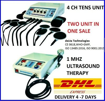 Physiotherapy  Electrotherapy Ultrasound Therapy 4 Ch Electrotherapy Combo units