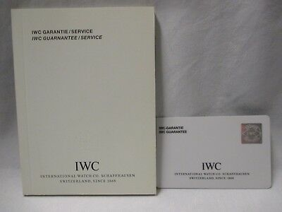 NOS IWC Watch and Chrono Open Blank International Guarantee Card & Services Book