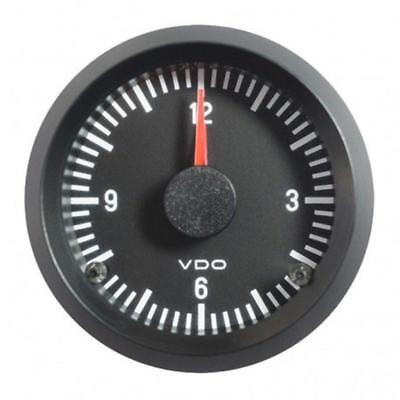 VDO Quarz Uhr 12V 52mm Zeituhr Electric Clock Instrument Cockpit Classic ATK