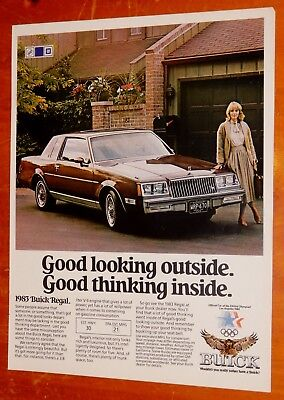 Beautiful 1983 Buick Regal Coupe Retro Ad -  American 1980S Vintage Auto Gm