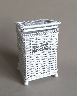 Dollhouse Wicker Clothes Hamper, Laundry Hamper