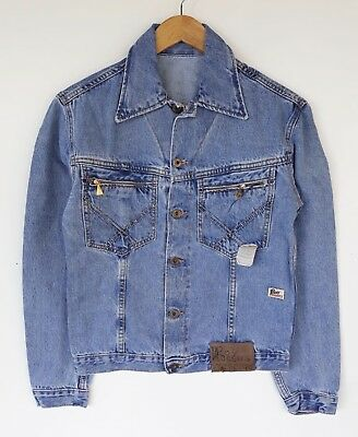 Roy Rogers Vintage 70's Giacca Denim Jeans Jacket Tg 28/S NEW (Warehouse fund)