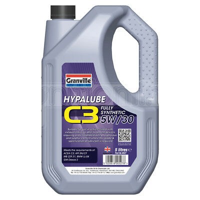 Granville Hypalube C3 Fully Synthetic 5W/30 Engine Oil Addititve SAE 5 Litre