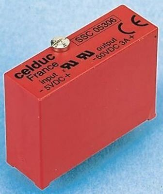 Celduc 3 A Solid State Relay, PCB Mount, 60 V dc Maximum Load