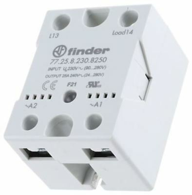 Finder 25 A SPNO Solid State Relay, Zero Crossing, Heatsink, 280 V ac Maximum Lo