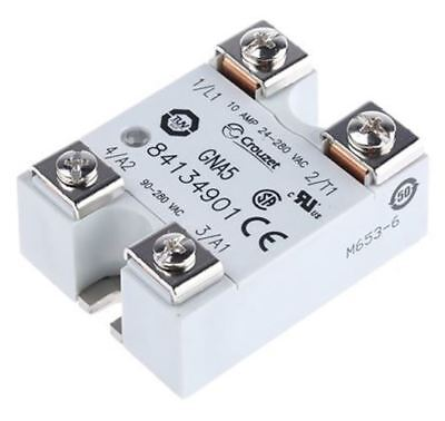 Crouzet 10 A Solid State Relay, Zero Crossing, Panel Mount Triac, 280 V rms Maxi