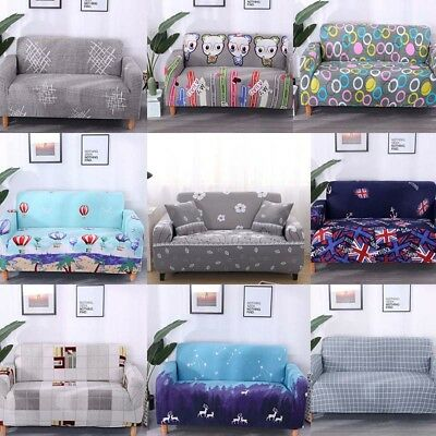 1/2/3 Seater Sofa Slipcover Stretch Protector Soft Couch Cover Portable Washable