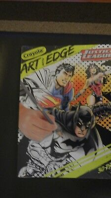 Crayola Art With Edge Justice League Collection Adult Coloring Book New