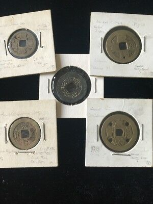Ancient Chinese Cash Coin Lot of 5 ~