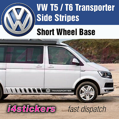 VW T5 T6 Transporter Side Stripes Graphics Decals Stickers Vinyls any colours