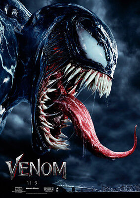 "Venom Poster 48x32"" 36x24"" 2018 Tom Hardy Movie Film Art Print Silk"