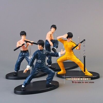 "4pcs/set / Kung Fu Master / Bruce Lee / PVC / Action Figure 10cm 4"" no box"
