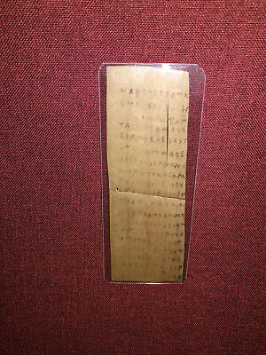 Ancient Greek Script on Palm Leaf Egyptian Roman Period circa 30 BCE to 300 CE?