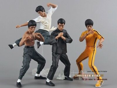 4pcs/set / Bruce Lee / Kung Fu / PVC / Action Figures / 10-13cm in box