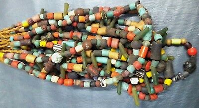 RARE Old Roman Glass Beaded Necklaces Multi-color sale Beads |Ancient Mosaic
