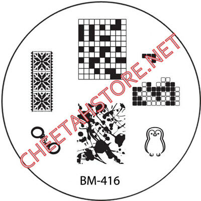 Stamping plaque Bundle Monster BM416 pour vernis ongles