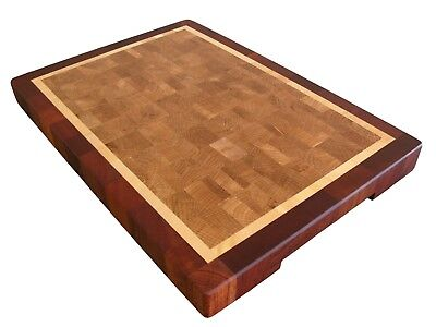 Wood, Handmade, Cutting Board End Grain with Feet, Butcher Block, Chopping Block