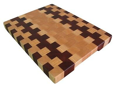 Cutting Board End Grain, Wooden, Handmade, with Feet, Chopping Board, Kitchen