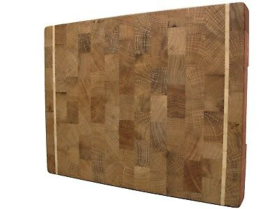 Butcher Block, Wood, Handmade, Cutting Board End Grain with Feet, Chopping Board