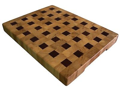 Cutting Board End Grain with Feet, Wooden, Handmade, Butcher Block, Cheese Board