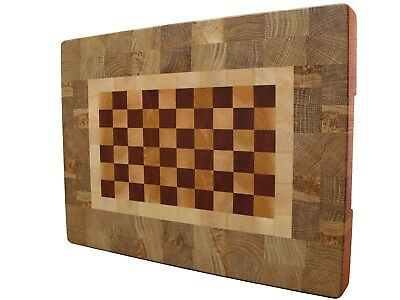 Cutting Board End Grain with Feet, Wood, Handmade, Butcher Block, Chopping Board
