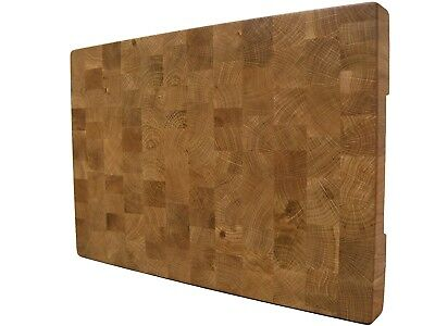 Oak Cutting Board End Grain, with Feet, Butcher Block, Chopping Board, Handmade