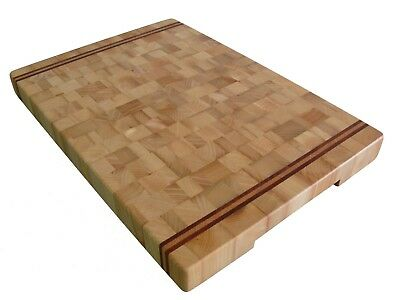 Handmade, Cutting Board End Grain, with Feet, Butcher Block, Chopping Board, Ash