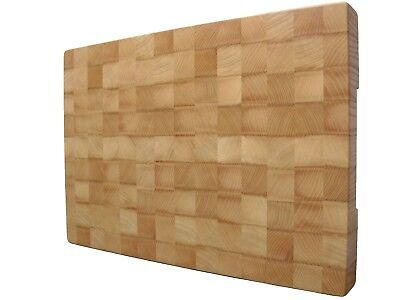 Ash, Handmade Cutting Board End Grain with Feet, Butcher Block, Chopping Board