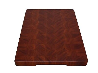 Sapele Handmade Cutting Board End Grain with Feet, Butcher Block, Chopping Board