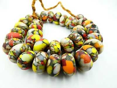 Old Abstract Roundel Mosaic Roman Glass Bead Necklaces |Roman Glass Necklace