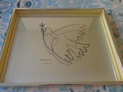 "PICASSO PABLO Artwork Reproduction 19.75/"" x 27.5/"" 459 DOVE OF PEACE"