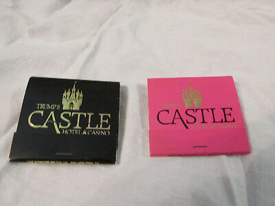 DONALD J TRUMP's CASTLE HOTEL & CASINO Pink  & Black Matchbook Vintage Unused