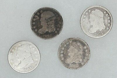 1829, 1830, 1831, 1832 Capped Bust Half Dimes H10C Average Circ 4 Coin Lot (6037