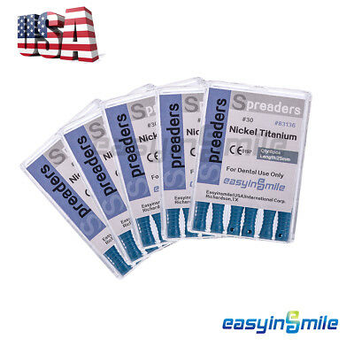 5X Dental Endodontic Spreader Files Niti Root Canal Hand File 15-40# EASYISNMILE