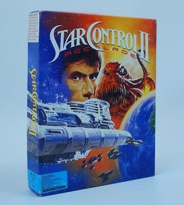 Star Controll II 2 Two Accolade IBM 5'' Floppy Disks Complete Big Box Tandy RARE