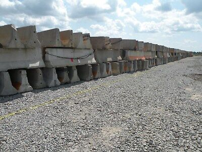 10' Long Re-Bar Reinforced Concrete Barriers!