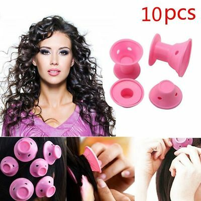 10pcs DIY Bend Twist Styling Maker Hair Curlers No Heat Silicone Rollers