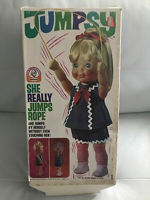 1969-- Jumpsy Doll She Really Jumps Rope New In Box Unused