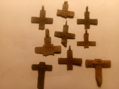 Metal detector finds. Ancient finds, ancient cross N23