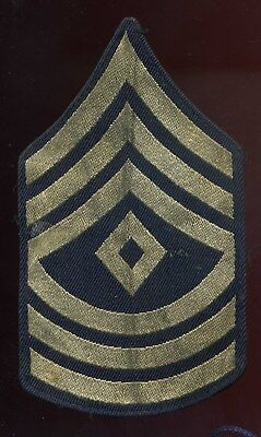 WWII US Army First Sergeant Rank Patch Rayon